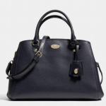 Coach Margot Crossgrain Leather Carryall # 34607 สี MIDNIGHT