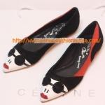 [พร้อมส่ง] รองเท้าคัชชู ลายหน้าคน สีดำ แบบเก๋ ไซส์38#