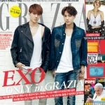 Pre Order / G(Book) GRAZIA Korea : August Second (2014) (EXO)