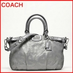 coach madison stitched leather sophia satchel # 18624 สี SILVER/GREY