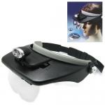 แว่นขยายแบบสวมหัว พร้อมไฟ LED มีเลนส์ 4 ชุด กำลังขยาย 1.2X - 1.8X - 2.5X - 3.5X