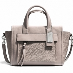 Coach Bleeker Mini Riley Carryall in Leather # 27923 สี SV/Grey Birch