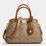 COACH SIGNATURE MINI MARGO CARRYALL # 34605 สี KHAKI/SADDLE