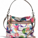 COACH SIGNATURE C HIPPIE HOBO SHOULDER CROSSBODY BAG # 31143E สี MULTICOLOR