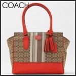 Coach signature stripe carryall # 29601