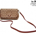 Coach Signature Mini Ruby Crossbody # 34615 สี KHAKI SADDLE