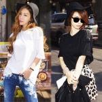 เสื้อยืดแฟชั่นเก๋ๆ♥Korean style