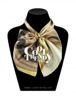 ผ้าพันคอสำเร็จรูป ผ้าไหมซาติน : TB086 - size 65*35 cm