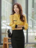 เสื้อชีฟองไซส์ใหญ่ ดำ/เขียว/เหลือง XL 2XL 3XL