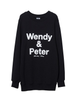 Pre Order / Wendy & Peter Lettering Sweat shirt(Unisex)