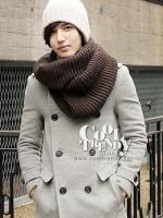 ผ้าพันคอผู้ชาย ผ้าพันคอไหมพรม Loop Loop สี Brown men scarf