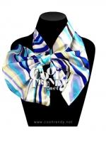 ผ้าพันคอสำเร็จรูป ผ้าไหมซาติน : TB092 - size 65*35 cm