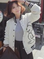 พร้อมส่งแฟชั่นเกาหลี:เสื้อคลุมน่ารักสกรีนลายสนู้ปปี้