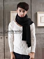 ผ้าพันคอผู้ชาย Man scarf ผ้า cashmere 220*30 cm - สี Black