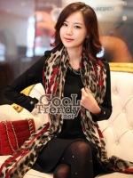 ผ้าพันคอแฟชั่นลายเสือ SC644 : ลายหัวใจสีแดง - ผ้าพันคอ cotton ขนาด 180*80 cm