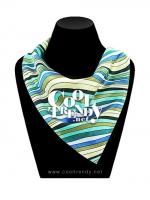 ผ้าพันคอสำเร็จรูป ผ้าไหมซาติน : TB008 - size 65*35 cm