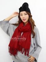 ผ้าพันคอ ผ้าคลุมพัชมีนา Pashmina scarf size 160*60 cm - สีแดง