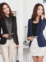 เสื้อสูทแฟชั่น สีดำ/สีน้ำเงิน ไซส์ XL 2XL 3XL 4XL