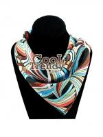 ผ้าพันคอสำเร็จรูป ผ้าไหมซาติน : TB025 - size 65*35 cm