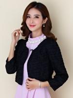 เสื้อคลุม แขนยาว เอวลอย สีดำ/สีขาว (XL,2XL,3XL)