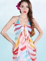 ผ้าคลุมชุดว่ายน้ำ ผ้าคลุมชายหาด ผ้าชายทะเล SH771: ผ้าชีฟอง size 150x100 cm