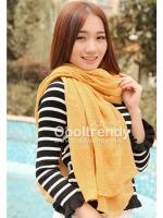ผ้าพันคอสีพื้น Pastel scarf : สี Peach ผ้า viscose size 240 x 170 cm