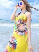 ผ้าคลุมชุดว่ายน้ำ ผ้าคลุมชายหาด ผ้าชายทะเล SH01 : ผ้าชีฟอง size 140x85 cm
