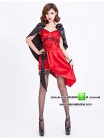 ชุดแฟนซีเจ้าหญิงแวมไพร์สีแดง