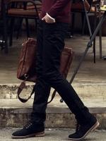กางเกงแฟชั่นผู้ชายทรงกระบอกเล็กจากเกาหลี BLACK (S,M.L,XL)