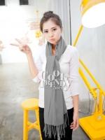 ผ้าพันคอ ผ้าคลุมพัชมีนา Pashmina scarf size 160*60 cm -  สีเทา