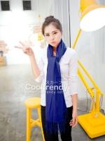 ผ้าพันคอ ผ้าคลุมพัชมีนา Pashmina scarf size 160*60 cm - สีน้ำเงิน