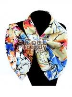 ผ้าพันคอสำเร็จรูป ผ้าไหมซาติน : TB043 - size 65*35 cm