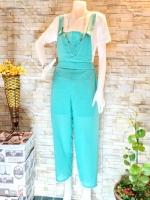 ขายส่ง:พร้อมส่งชุดน่ารัก2ชิ้น เสื้อ+กางเกงสายเอี๊ยมขายาวพริ้วๆ/เขียวมิ้น