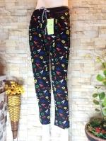 ขายส่ง:พร้อมส่งกางเกงขายาวลายน่ารักเก๋ๆผ้าใส่สบาย/เอวยืดได้ถึง32