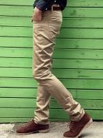 กางเกงแฟชั่นผู้ชายทรงกระบอกเล็กจากเกาหลี LIGHT BIEGE (S,M.L,XL)