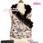 อก 38-42 Glamourous Tops สาวอวบห้ามพลาด! LTB164 :สไตล์สาวเกาหลี สาวอวบสวยได้ด้วยเสื้อแขนกุดอกไขว้คอระบายหรูหรา ผ้าลูกไม้เกาหลี ทรงเสื้อป้ายผูกที่เอว thumbnail 1