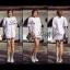 [[พร้อมส่ง]] hf/045 Korea White Spring Floral Embroidery Mini dress มินิเดรสสีขาวปักเกาหลีฉลุลายดอกไม้ทั้งตัว thumbnail 1