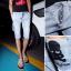 กางเกงผู้ชาย | กางเกงยีนส์ชาย กางเกงยีนส์ขาสามส่วน แฟชั่นเกาหลี thumbnail 1