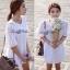[[พร้อมส่ง]] hf/045 Korea White Spring Floral Embroidery Mini dress มินิเดรสสีขาวปักเกาหลีฉลุลายดอกไม้ทั้งตัว thumbnail 2