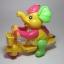 ช้างน้อยปั่นจักรยาน เชือกดึง วิ่งได้ สีเหลือง thumbnail 1