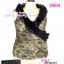 อก 38-42 Glamourous Tops สาวอวบห้ามพลาด! LTB154 :สไตล์สาวเกาหลี สาวอวบสวยได้ด้วยเสื้อแขนกุดอกไขว้คอระบายหรูหรา ผ้าลูกไม้เกาหลี ทรงเสื้อป้ายผูกที่เอว  thumbnail 1