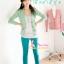 ##SKINNYฮิตฮอตแฟชั่นเกาหลีเก๋สุดๆ PB549 ClassicSkinny กางเกงสกินนี่ Skinny ฟอกลายผ้ายืดเนื้อหนา ผ้านิ่ม รุ่นนี้ทรงสวยใส่สบาย สีฟ้าอมเขียว ไซส์XL thumbnail 1