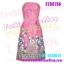 FZS0755 SwEeT Pink Silk-Liked Dress ::สีหวานห SwEeT Pink Silk-Liked Dress ::สีหวานหลายสวยจริงๆ:: ใหม่! แซค เดรส เกาะอกสีชมพูหวาน พิมพ์ลายเป็นของexport thumbnail 1