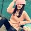 เสื้อไหมพรมคอบัวช่วงแขนยาว สีชมพูโอโรส สวย น่ารัก ใส่เป็นเสื้อคลุมกันหนาวได้จ้า