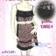 KoreaGirly DB821 ใหม่! ชุดแซก/เสื้อยาวสายเดี่ยวสไตล์สาวเกาหลี สองเนื้อผ้าสลับลายดอกผ้าชีฟอง เก๋ที่อก thumbnail 1