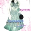 Recommended# DB295X HK Charmy Dress ใหม่!ชุดแซก/เดรสสุดหรู::นำเข้าฮ่องกง ผ้าไหมแก้ว ดีไซน์สวยมากอกไขว้ แต่งดอกไม้ช่วงเอว ชายระบายผ้าโปร่ง สีฟ้าอมเขียว thumbnail 1
