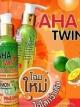 โลชั่นมะนาวสับปะรด Twin + AHA 90% Collagen 2 สูตรในขวดเดียว โฉมใหม่ 120 ML.