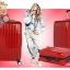 กระเป๋าเดินทางไฟเบอร์ รุ่น Aluminium แดง ขนาด 28 นิ้ว thumbnail 2