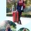 กระเป๋าเดินทางไฟเบอร์ รุ่น Aluminium แดง ขนาด 28 นิ้ว thumbnail 4