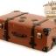 กระเป๋าเดินทางวินเทจ รุ่น retro brown น้ำตาลคาดดำ ขนาด 26 นิ้ว thumbnail 6